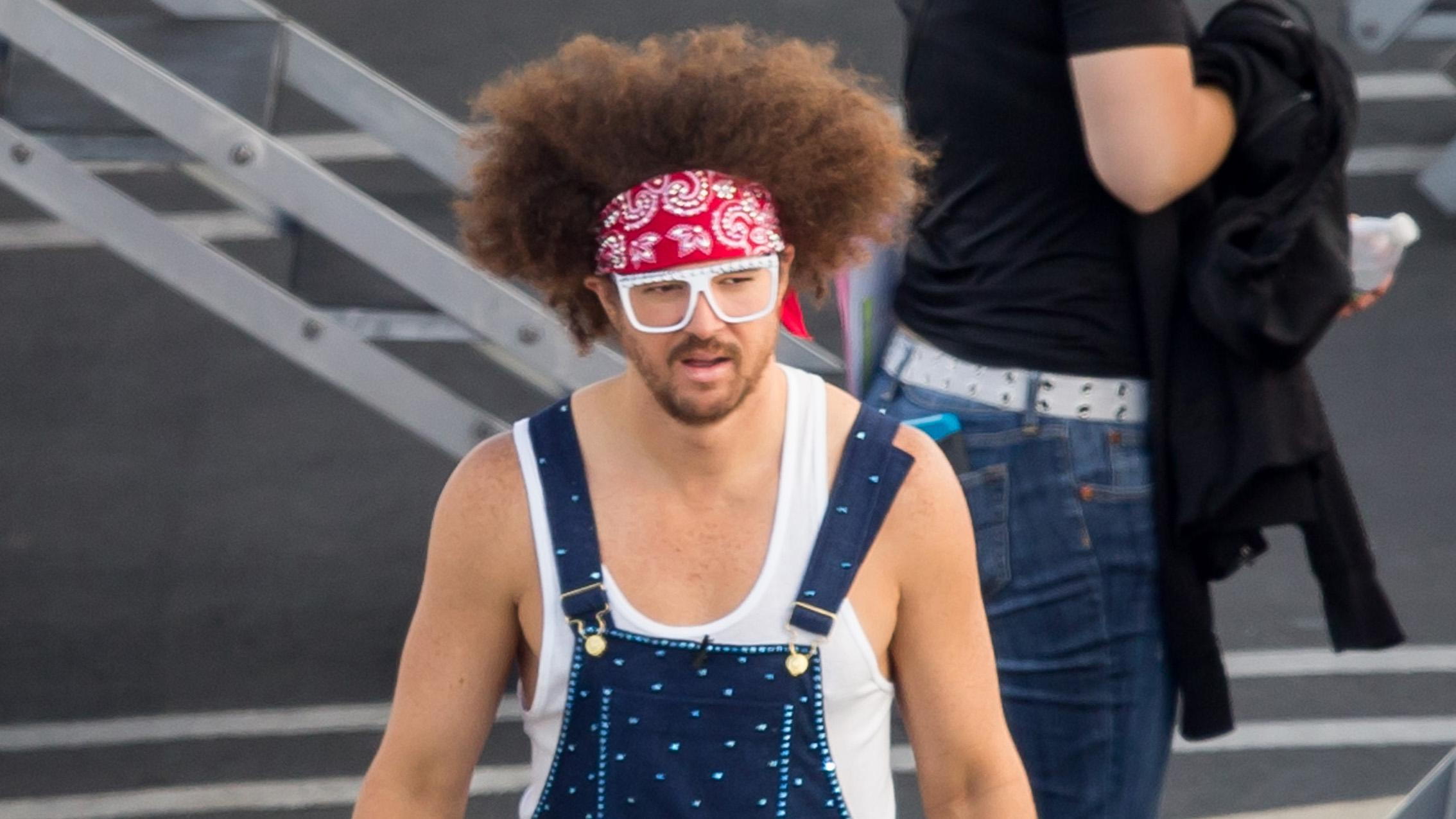 Redfoo and Emma Slater seen at the 'Dancing with the Stars' studio in Los Angeles, California