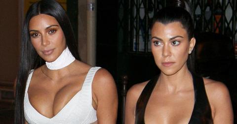 Kim Kardashian & Kourtney Kardashian are seen looking amazing as they step out to dinner in Paris.