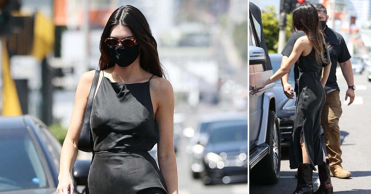 kendall jenner is seen leaving petit taqueria after lunch