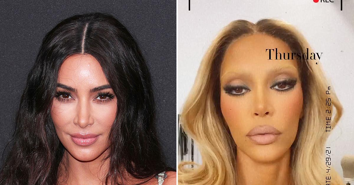 kim kardashian bleaches hair and eyebrows