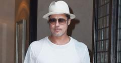 Brad Pitt steps out in all white in Tribeca, NYC