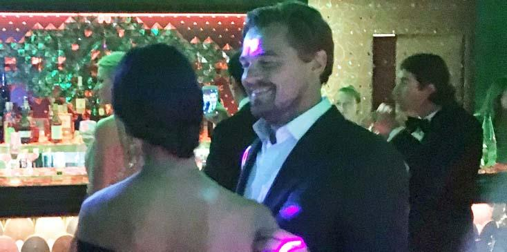 *EXCLUSIVE* Leonardo DiCaprio gets flirty during his Foundation Gala