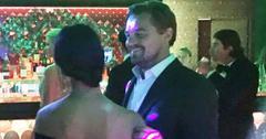 *EXCLUSIVE* Leonardo DiCaprio gets flirty during his Foundation Gala