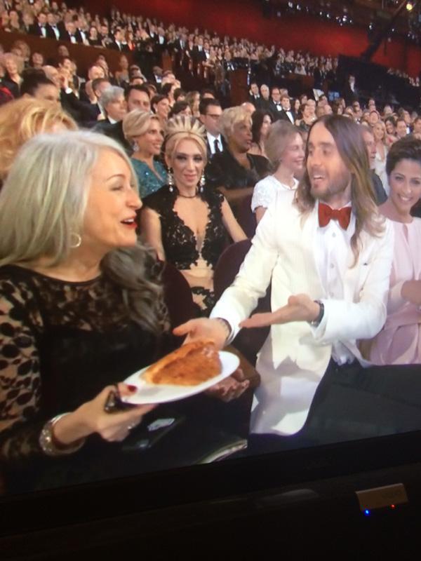 Jared Leto Pizza Oscars