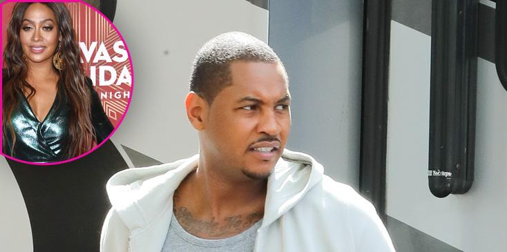 Carmelo Anthony Poses For A Photoshoot In NYC