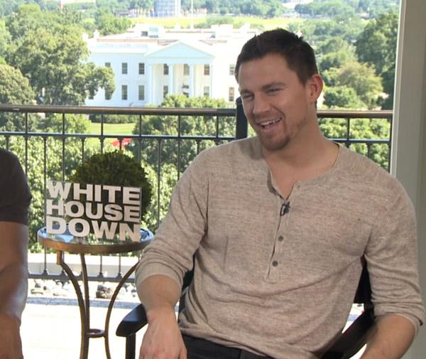 Channing tatum yes no show white house down new