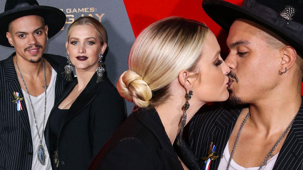 Ashlee simpson kisses cuddles evan ross