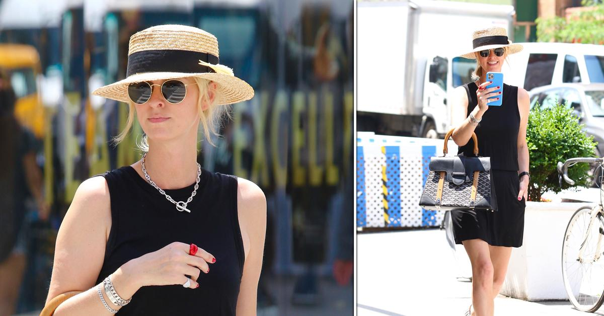 nicky hilton is all smiles as she heads out in heatwave in nyc