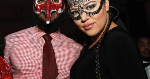 Khloe Kardashian dresses up for masquerade themed birthday party in Hollywood, CA