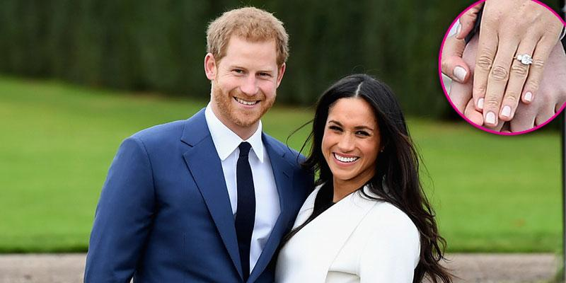 meghan markle engagement ring prince harry pics pp