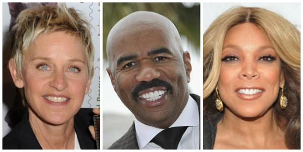 Ellen DeGeneres Steve Harvey Wendy Williams