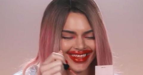 Kendall Jenner Mocks Kylie For Overlining Her Lips