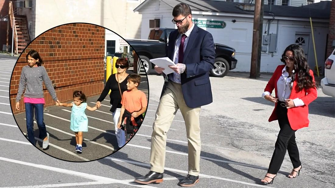 David Eason and Jenelle Evans head to court for their custody hearing.