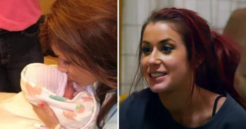 teen mom  chelsea houska deboer birth baby girl photo pf