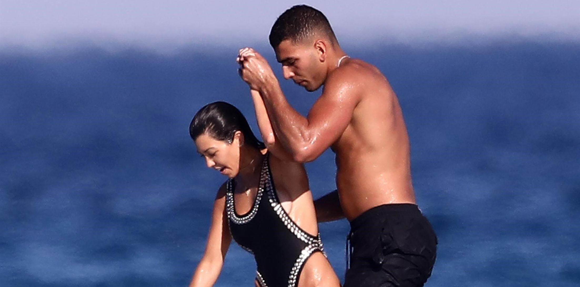 Kourtney Kardashian and Younes Bendjima keep it close during French getaway!