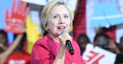 Hillary Clinton speaks at a volunteer rally in Philadelphia
