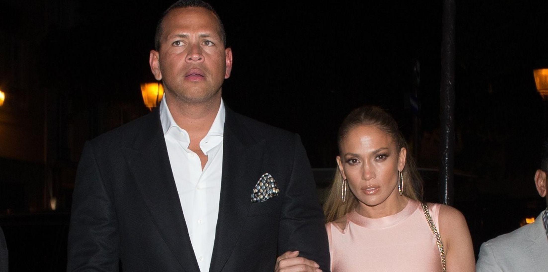 *EXCLUSIVE* Jennifer Lopez and Alex Rodriguez arrive for a date night at La Societe