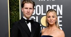 Kaley Cuoco and husband at the Golden Globes
