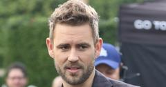 The new Bachelor Nick Viall interviews at Extra TV at Universal Studios