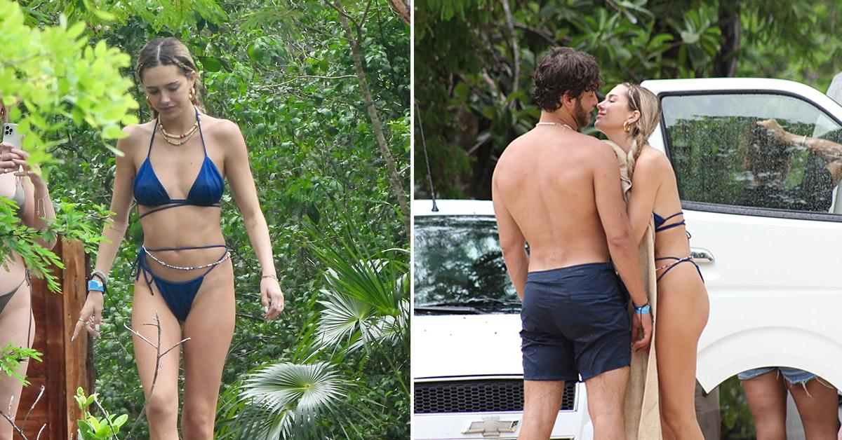delilah hamlin and boyfriend eyal booker visit swimming hole in tulum mexico