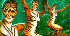 Naked rebecca romijn body paint tigress