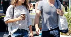 ***NO DAILY MAIL SALES*** Ian Somerhalder and his girlfriend Nikki Reed seen out at the farmers market in Studio City