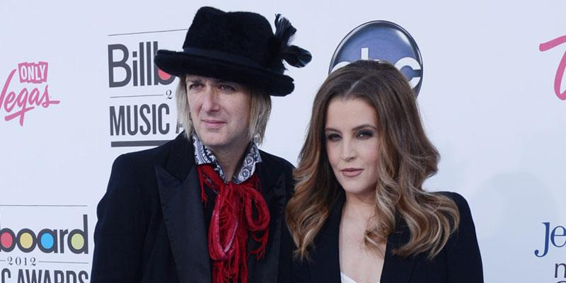 Michael Lockwood Wearing Hat and Lisa Marie Presley wearing Black