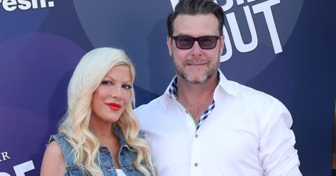 Tori Spelling and  Dean McDermott attends the premiere of Disney Pixar's 'Inside Out' at the El Capitan Theatre in Hollywood, California.
