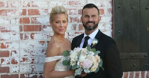 *EXCLUSIVE* Newly weds Brittany Daniel and Adam Touni pose for pictures outside of their urban chic wedding