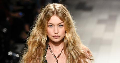Gigi Hadid Loses Shoe During NYFW Video Photos hero