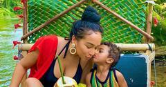Jordan Craig Getting A Kiss From Son Prince