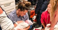 Jade Roper Tolbert giving birth in closet