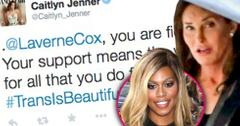 Caitlyn jenner snubs kim kardashian thanks laverne cox