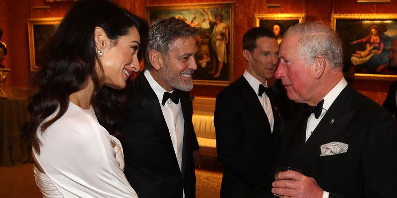 Amal and George Clooney with Prince Charles