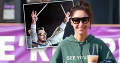 """Cara Santana rocks a """"see you in '21"""" Hoodie as she grabs an iced coffee after the gym. The top Made by Thirty Seconds of Mars"""