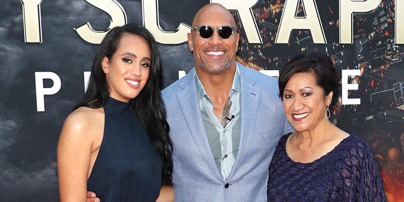 Dwayne johnson skyscraper premiere without girlfriend main