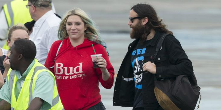 Kesha smiles hugs boyfriend brad ashenfelter vacation hero