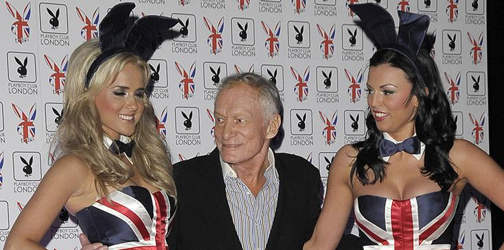 Hugh Hefner at the Gala Launch Party for the New Playboy Club in London