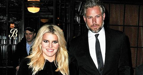 Jessica Simpson and husband Eric Johnson head out to an event in all black attire in NYC