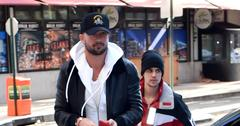 Justin Bieber is seen with his Pastor friend Carl Lentz in Brooklyn
