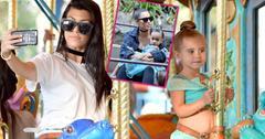 Kim kardashian kourtney kardashian take penelope north disney HERO