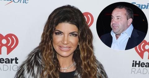 Teresa Giudice On Red Carpet Joe Giudice Inset