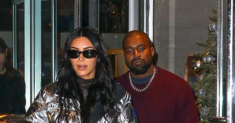Kim Kardashian & Kanye West Out With Their Kids In NYC