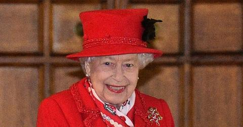 Queen Elizabeth Wearing All Red