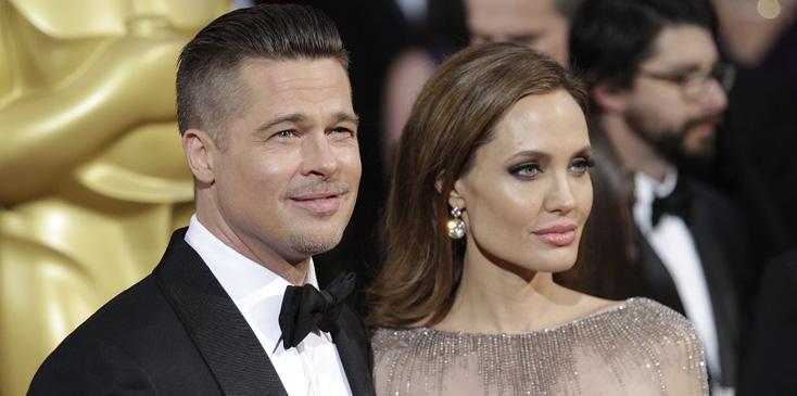Brad Pitt and Angelina Jolie at the 2014 Oscars