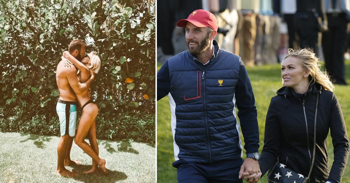 paulina gretzky and dustin johnson share a kiss as she wishes him a happy birthday instagram