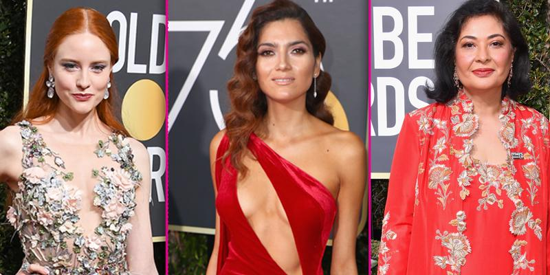 Celebs who did not wear black to golden globes 2018 hero