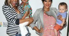 Tia and Tamera with their kids