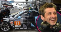 Patrick dempsey smiles looks happy racetrack