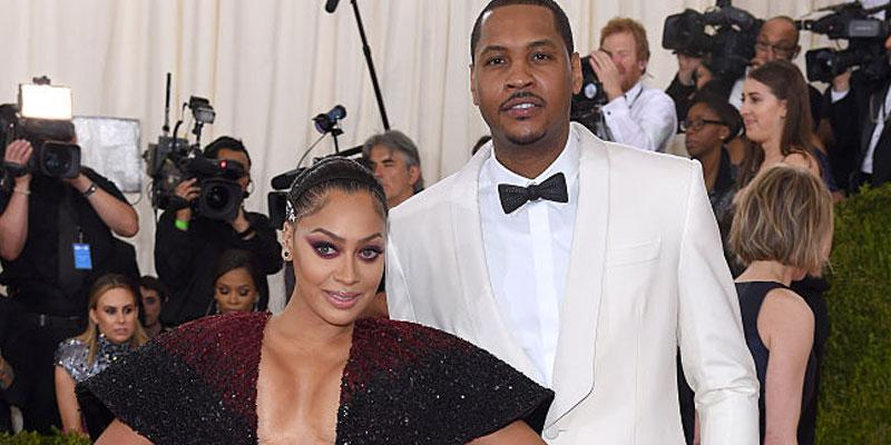 La La And Carmelo Anthony Met Gala Legal Discussions